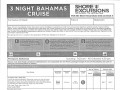 3 Night Bahamas Cruise - Shore Excursions - Page 1