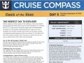 Oasis Of The Seas 7 Night Western Caribbean Cruise - 09/09/2018 - Cruise Compass - Day 5 - Page 1