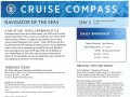 Navigator Of The Seas 3 Night Bahamas & Perfect Day Cruise - 1/3/2020 - Cruise Compass - Day 3 (Revised - Sea Day) - Page 1